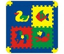 Коврик с животными 4 дет. 68х68