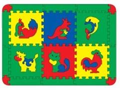 Коврик с животными 6 дет. 68х95