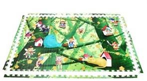"""Детский развивающий коврик - пазл """"Лесные эльфы"""" с кромками MAMBOBABY (180x120x2 см)"""