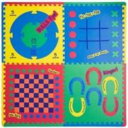 """Funkids / """"Игровой Центр 4 в 1"""" / Игровой коврик-пазл 24"""" толщина 15 мм (4 части)"""