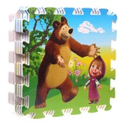 """Коврик-пазл """"Маша и медведь"""" 8 элементов, каждый 31,5х31,5см"""