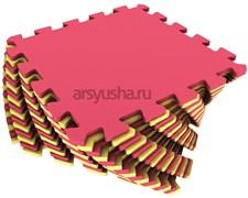 Мягкий пол 25x25x0,9см цвет желто-красный