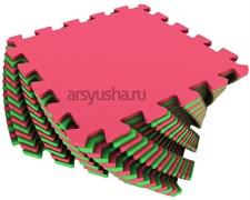 Мягкий пол 25x25x0,9см цвет красно-зеленный