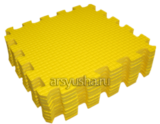Мягкий теплый пол BABYPUZZ плиты 33х33х1см желтый