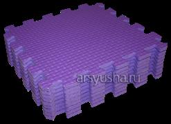 Мягкий теплый пол BABYPUZZ плиты 33х33х1см фиолетовый