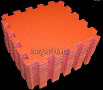 Мягкий теплый пол BABYPUZZ плиты 33х33х2 см оранжевый