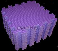 Мягкий теплый пол BABYPUZZ плиты 33х33х2 см фиолетовый