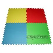 """Комплект развивающий Babypuzz """"Разноцветный пол"""" 6 кв.м. (54 детали 33x33x1 см)"""