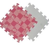 Мягкий пол 30*30*1 см Розовая клетка+Собачки