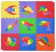 "Коврик-пазл ""Мозаика с рыбами 90х90 ""Wonder toys"""