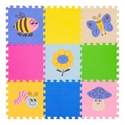 """Игровой коврик-пазл FunKids 12"""" с рисунками """"Окружающий Мир. Поляна"""", 9 плит, 30х30х1,5 см"""