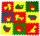 """Детский развивающий коврик-пазл  """"Животные"""" 99х99х0,9 см"""