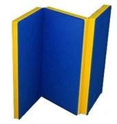 Мат №4 гимнастический двухцветный складной 100х150х10 см