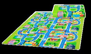 """Детский игровой развивающий коврик Mambobaby  """"Город"""", книжка 200х150х1см"""