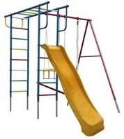 Детские комплексы для дачи с горкой и качелями