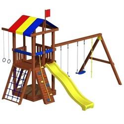 Детская площадка из дерева «Джунгли 5» - фото 10540