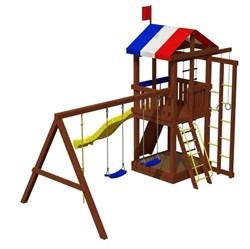 Деревянная детская площадка для дачи «Джунгли 6» - фото 10541