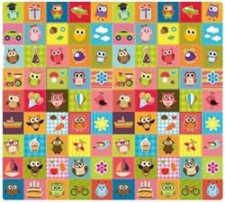 """Детский развивающий коврик Mambobaby """"Совята"""" (Односторонний) 200x180x0,5см. - фото 13137"""