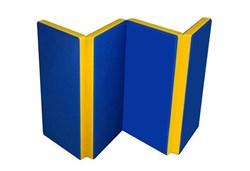 Мат №5 гимнастический двухцветный складной 100х200х10 см. - фото 14515