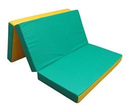 Мат №4 гимнастический двухцветный складной 100х150х10 см - фото 14518
