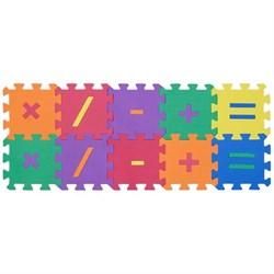 """Коврик-пазл Funkids 6"""" с символами """"Символы-1"""", 10 плит, 15х15х1,5 см - фото 16774"""