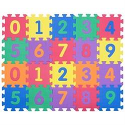 """Коврик-пазл Funkids 6"""" с цифрами """"Цифры-4"""", 20 плит, 15х15х1,5 см - фото 16779"""