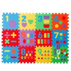"Коврик-пазл ""Цифры и фигуры-12"" Wonder toys - фото 17184"