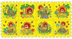 """Коврик-пазл """"Львенок и черепаха"""" 8 элементов, каждый 31,5х31,5см - фото 17457"""