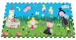"""Игровой коврик-пазл Mambobaby """"Бэн и Холли Маленькое королевство"""", 8 элементов, каждый 31,5х31,5см - фото 17545"""