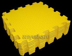 "Коврик-пазл BABYPUZZ (9 плит 33x33x1см, ~1кв.м./уп) ""Желтый"" - фото 17994"