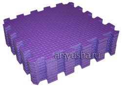 "Коврик-пазл BABYPUZZ (9 плит 33x33x1см, ~1кв.м./уп) ""Фиолетовый"" - фото 17996"