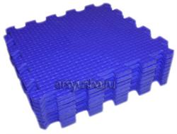 "Коврик-пазл BABYPUZZ (9 плит 33x33x1см, ~1кв.м./уп) ""Синий"" - фото 18002"