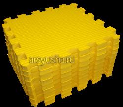 "Коврик-пазл BABYPUZZ (9 плит 33x33x2см, ~1кв.м./уп) ""Желтый"" - фото 18005"