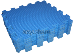 "Коврик-пазл BABYPUZZ (9 плит 33x33x1см, ~1кв.м./уп) ""Голубой"" - фото 18011"