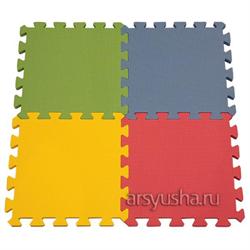 """Коврик-пазл BABYPUZZ (36 плит 33x33x1см, ~4кв.м./уп) """"Разноцветный пол"""" - фото 18015"""