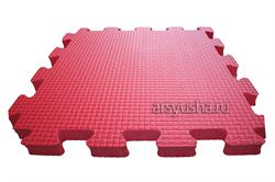Мягкий теплый пол BABYPUZZ плиты 50х50х2,5 см красный - фото 18024