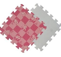 Мягкий пол 30*30*1 см Розовая клетка+Собачки - фото 18214