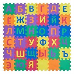 """Коврик-пазл Funkids 6"""" с русскими буквами """"Алфавит-3"""", 36 плит, 15х15х1,5 см - фото 18810"""