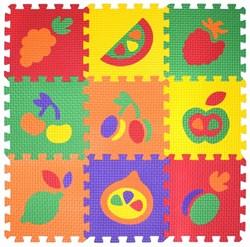 "Коврик-пазл BABYPUZZ (9 плит 33x33x1см, ~1кв.м./уп) ""Набор фрукты"" - фото 19498"