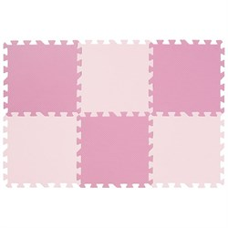 "Коврик-пазл Funkids 12"" без рисунка ""Симпл-12-10"", розовый, 6 плит, 30х30х1 см - серия NT10 - фото 24243"