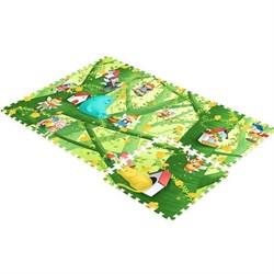 """Детский развивающий коврик - пазл """"Лесные эльфы"""" с кромками MAMBOBABY (180x120x2 см) - фото 24746"""