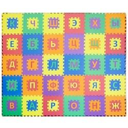 """Коврик-пазл Funkids 12"""" с русскими буквами """"Алфавит-1-10"""" 30 плит, 30х30х1 см - фото 26069"""