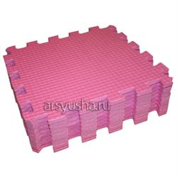 "Коврик-пазл BABYPUZZ (9 плит 33x33x1см, ~1кв.м./уп) ""Розовый"" - фото 471365"