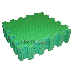 "Коврик-пазл BABYPUZZ (9 плит 33x33x1см, ~1кв.м./уп) ""Зеленый"" - фото 471371"