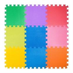 """Коврик-пазл BABYPUZZ (9 плит 33x33x2см, ~1кв.м./уп) """"Разноцветная полянка"""" - фото 471372"""