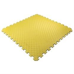 Покрытие для детских игровых зон 100х100х1,5см с кромками, желтый - фото 475365