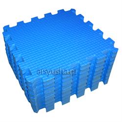 "Коврик-пазл BABYPUZZ (9 плит 33x33x2см, ~1кв.м./уп) ""Синий"" - фото 476385"