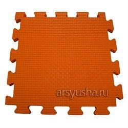 "Коврик-пазл BABYPUZZ (4 плиты 50x50x2см, 1кв.м./уп) ""Оранжевый"" - фото 488465"
