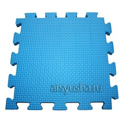 "Коврик-пазл BABYPUZZ (4 плиты 50x50x2см, 1кв.м./уп) ""Голубой"" - фото 488467"