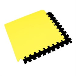 "Коврик-пазл BABYPUZZ (4 плиты 60x60x0,9см, 1,44кв.м./уп) ""Черно-желтый"" - фото 507691"